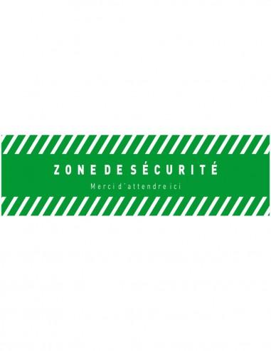 Zone de sécurité marquage au sol