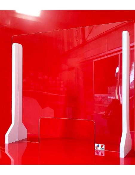 Paroi Lexan incassable 4mm hauteur 1000mm